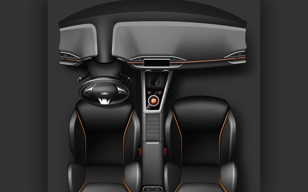 АвтоВАЗ показал первое изображение салона новой Lada.